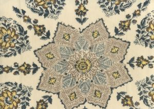 HC1490VV-04 PERSEPOLIS On Venetian Velvet Brown Navy on Cream Quadrille Fabric