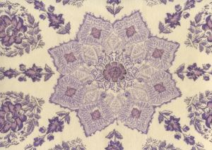 HC1490VV-10 PERSEPOLIS On Venetian Velvet Purple Lilac on Cream Quadrille Fabric