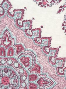 HC1490C-13 PERSEPOLIS Red Burgundy Purple on Ivory Quadrille Fabric