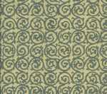 HC1340T-03 SCROLL Vapor on Tan Quadrille Fabric