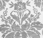 302318F-CU VICTORIA Grey on Tint  Quadrille Fabric
