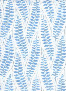 HC1860-03 WOODLAND Medium Blue on Tint Quadrille Fabric