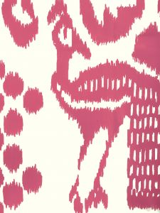 2435-46WP BALI ISLE Magenta On Off White Quadrille Wallpaper