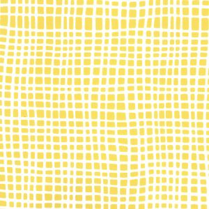 AP403-5 CRISS CROSS Yellow On White Quadrille Wallpaper