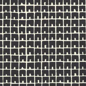 4045-10WP FEZ II Black On Off White Quadrille Wallpaper