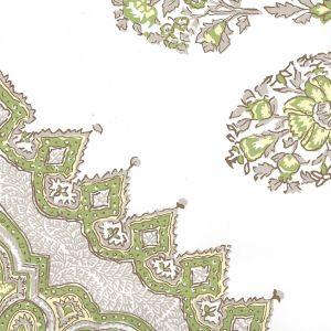 HC1490W-02WPV PERSEPOLIS Fig Cream On White Vinyl Quadrille Wallpaper