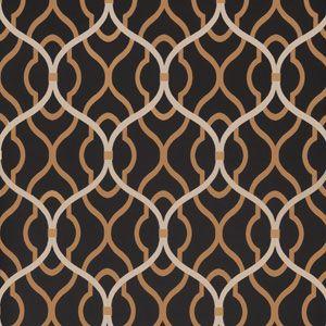 50094W PASSA OGEE Onyx 05 Fabricut Wallpaper