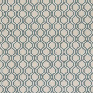 50078W KEYS GEO Teal 05 Fabricut Wallpaper