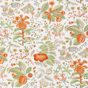 178122 POMEGRANATE BOTANICAL Orange Schumacher Fabric
