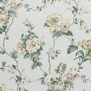 178402 BETTY CHINTZ Celadon Schumacher Fabric
