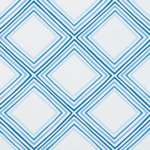 5009831 SQUARE DANCE BLUE Schumacher Wallpaper