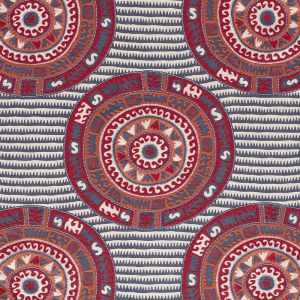 74470 CORFU Navy Multi Schumacher Fabric