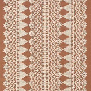 75470 WENTWORTH EMBROIDERY Rust Schumacher Fabric