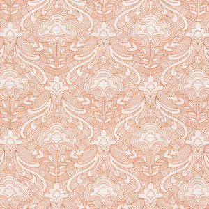 76161 HENDRIX EMBROIDERY Orange Schumacher Fabric