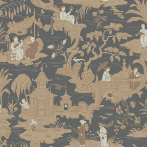 100/8040-CS CHINESE TOILE Charcoal Cole & Son Wallpaper