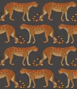 109/2008-CS LEOPARD WALK Charcoal Orange Cole & Son Wallpaper