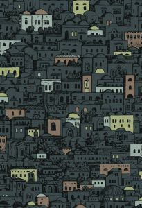 114/7014-CS MEDITERRANEA Charcoal Metallic Cole & Son Wallpaper