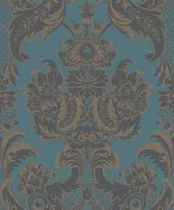 94/3017-CS WYNDHAM Teal And Charcoal Cole & Son Wallpaper