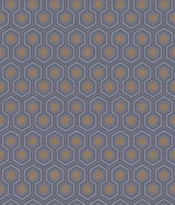 95/3015-CS HICKS HEXAGON Dk Gry Bronz Cole & Son Wallpaper