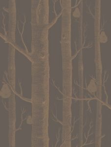 95/5028-CS WOODS & PEARS Bronze Black Cole & Son Wallpaper
