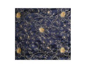 A9 09017709 PRINCESS SILK Patriot Blue Scalamandre Fabric