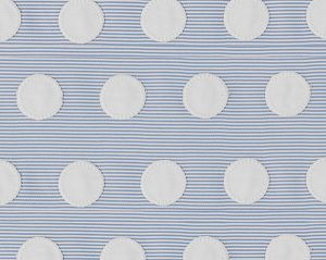 B8 00040582 BUBBLE APPLIQUE Blue White Scalamandre Fabric