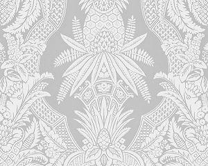 CL 0002WP16482 EAST INDIA Bianco Grigio Scalamandre Wallpaper
