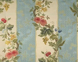 CL 000326401 VILLA LANTE STRIPE Multi On Sky Blue Scalamandre Fabric