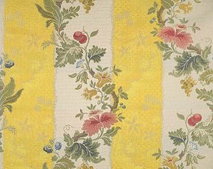 CL 000426401 VILLA LANTE STRIPE Multi On Yellow Bisque Scalamandre Fabric