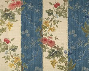 CL 000526401 VILLA LANTE STRIPE Multi On Prussian Blue Bisqu Scalamandre Fabric
