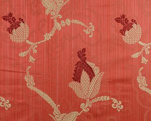 CL 000626715 VIVALDI Maroon Linen On Red Scalamandre Fabric