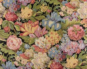 ET 00011716 CASPIO FH Black Old World Weavers Fabric