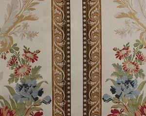 H0 00011673 MAUREPAS BORDER Multi On Ivory Scalamandre Fabric