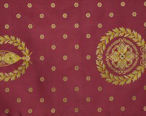 H0 00014009 MASSENA FAUTEUIL Rouge Scalamandre Fabric