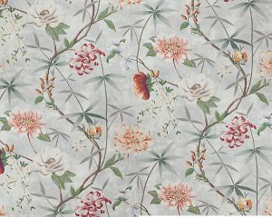 H0 00020583 PRINTEMPS DE CHINE Aqua Scalamandre Fabric