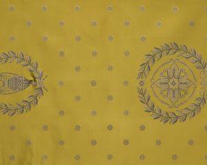 H0 00034009 MASSENA FAUTEUIL Or Scalamandre Fabric