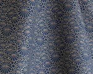 H0 00083467 OBI JACQUARD Marine Scalamandre Fabric