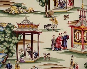 16264-001 SHANGHAI Multi On Cream Scalamandre Fabric