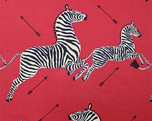 16496M-001 ZEBRAS SC Masai Red Scalamandre Fabric