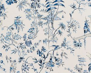 16552-001 NANJING China Blue Scalamandre Fabric