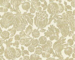16606-001 ELSA LINEN PRINT Burnished Gold Scalamandre Fabric