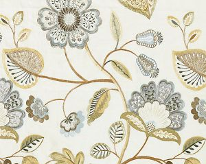 27071-001 WILLOWOOD EMBROIDERY Summer Sage Scalamandre Fabric