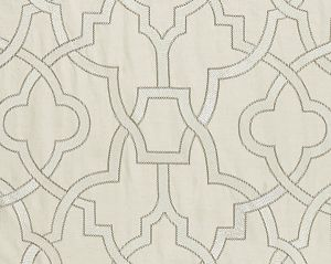 27073-001 DAMASCUS EMBROIDERY Alabaster Scalamandre Fabric