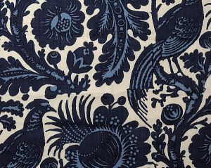 36389-001 SPOLETO Light Dark Blue On White Scalamandre Fabric