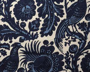 6218M-001 RESIST PRINT Light Dark Blue On White (Do Scalamandre Fabric
