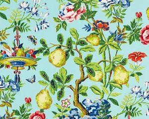 16583-002 SHANTUNG GARDEN Aquamarine Scalamandre Fabric