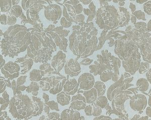 16606-002 ELSA LINEN PRINT Silver On Skylight Scalamandre Fabric