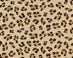 27075-002 BRODERIE LEOPARD Chocolate On Sand Scalamandre Fabric