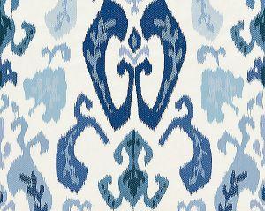 27172-002 MANDALAY IKAT EMBROIDERY Porcelain Scalamandre Fabric