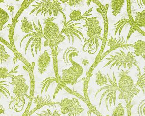 16575-003 BALINESE PEACOCK Pear Scalamandre Fabric